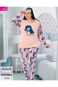 Пижама женская махра флис больших