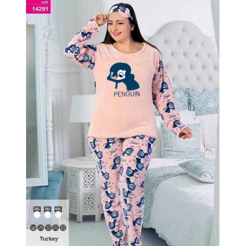 Пижама женская махра флис больших размеров Турция
