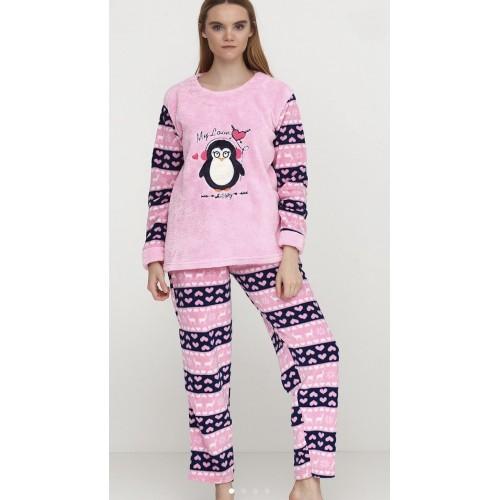 Теплая пижама из флиса и махры