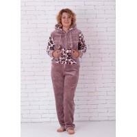 Женская пушистая тигровая пижама