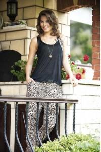 Леопардовый летний костюм-пижама