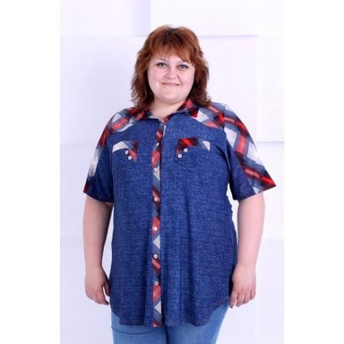 Большая женская блуза-рубашка