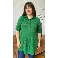 Женская блуза-рубашка больших размером