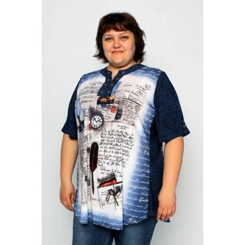 Женская нарядная туника больших размеров