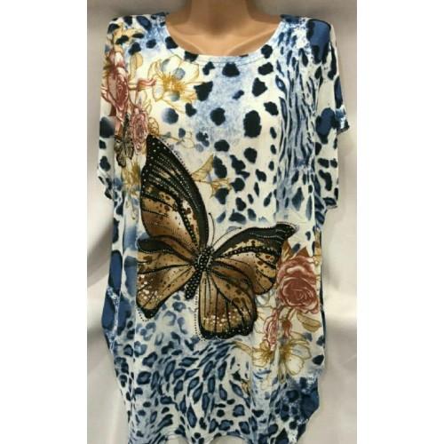 Женская туника с бабочками