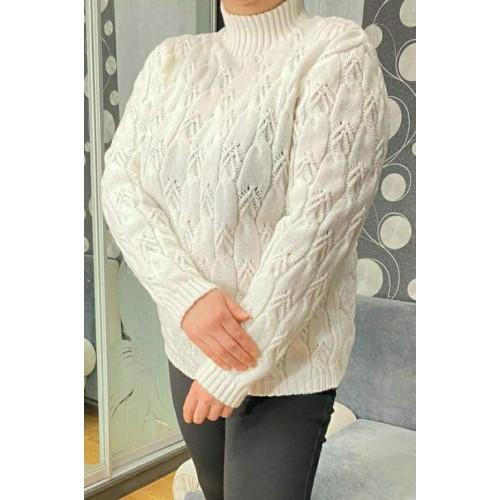 Теплый свитер с высоким горлом 5504