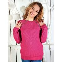 Вязаный молодёжный свитер