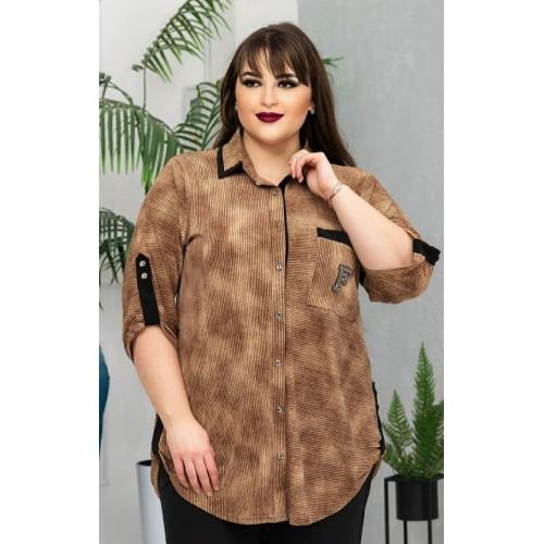 Женская рубашка больших размеров