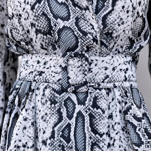 Платье с поясом рептилия 61038