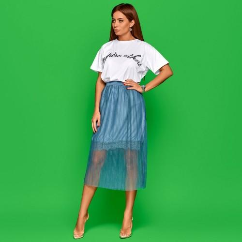 Плиссированная легкая юбка 21253