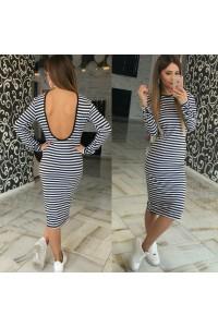 Облегающее платье в полоску 10515