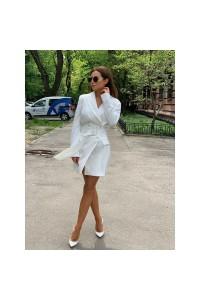 Пиджак-платье с поясом 8009-0