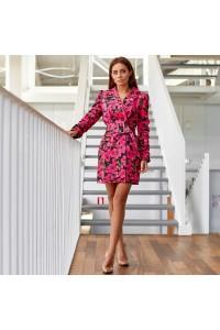 Платье-мини с крупными цветами 6047-1