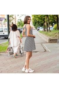 Летнее полосатое платье 1406