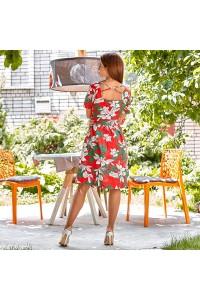 Льняное платье на пуговицах 88334