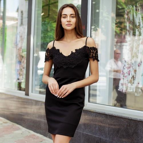 Платье с кружевом 232-0