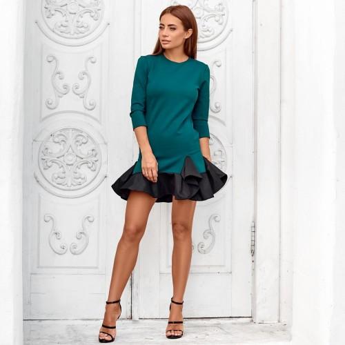 Платье дюймовочка с воланом 10681