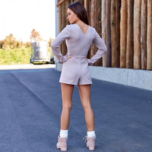 Трикотажное платье-комбинезон 11385