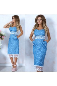 Платье - сарафан приталенное 10587