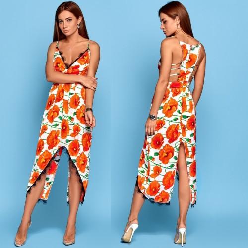 Платье с вырезом сзади, открытая спина 10822