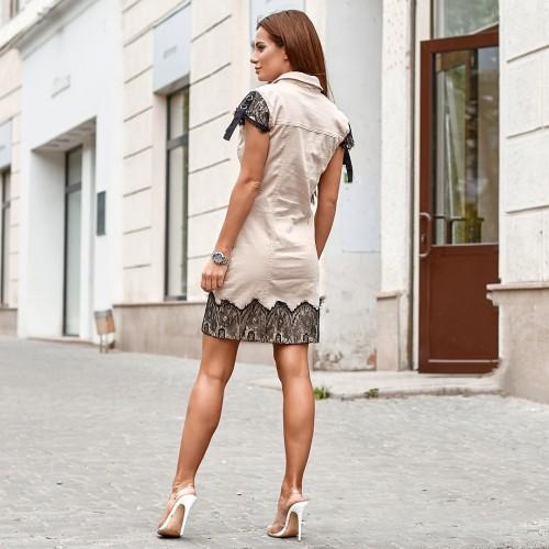Платье с кружевной вышивкой 7934