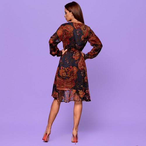 Платье с завораживающим узором 3036