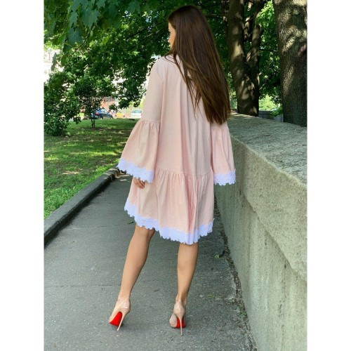 Платье для беременных с гипюром 10810