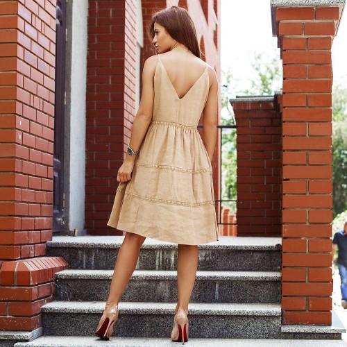 Платье на тонких бретелях 30899