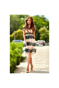 Легкое платье с фатином 11070