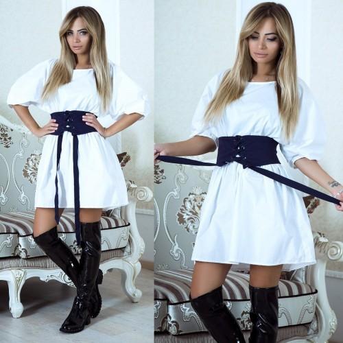 Платье со шнуровкой и вырезом на спине 3733