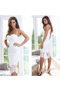Открытое платье с узорами 5439