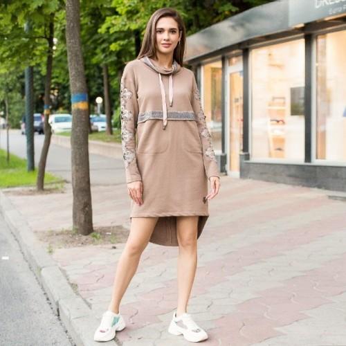 Платье с капюшоном 790-006