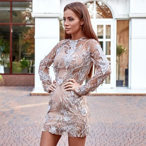 Платье - мини с узорами 11390