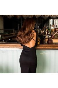 Замшевое платье с открытой спиной 11188
