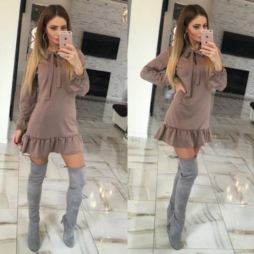 Платье с оборкой mini 10476