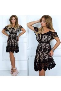 Нарядное гипюровое платье 313-0