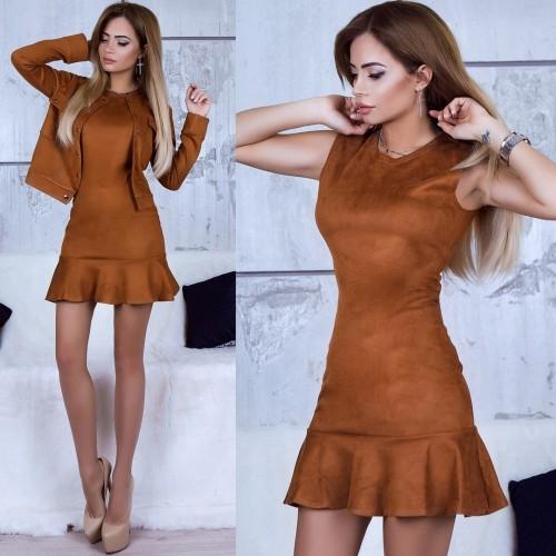 Костюм двойка Платье+пиджак 10782