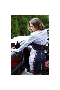 Оригинальный джинсовый сарафан-платье 10939