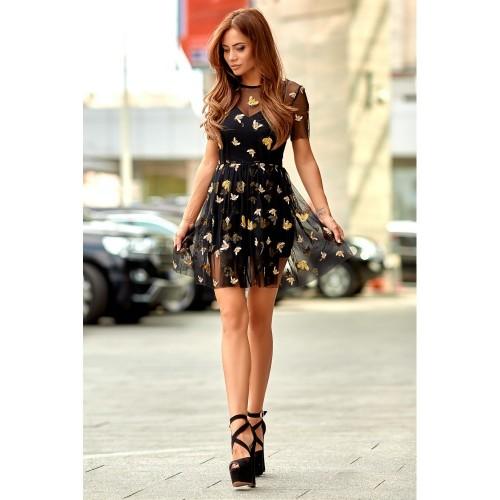 Платье из фатина с золотыми пчелками 11077
