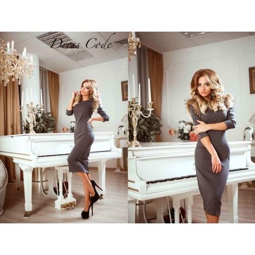 Платье с мехом 10404