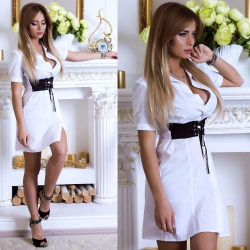 Платье с корсетом 76360