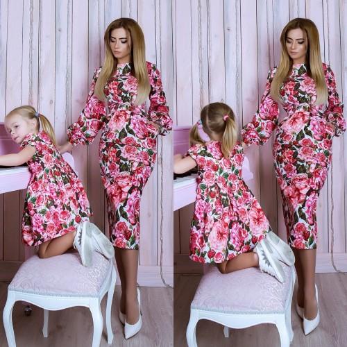 Платье Розовые Розы 10762