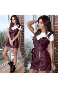 Платье кожаное 10990