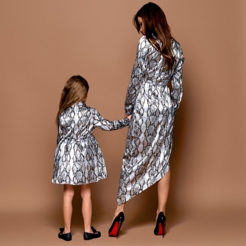 Платье Family Look с принтом 11206
